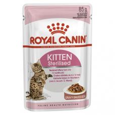 Купить Паучи . Влажный корм для котят Royal Canin Kitten Sterilised Sauce 85 г . Упаковка 12 шт Фото 1 недорого с доставкой по Украине в интернет-магазине Майзоомаг