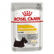 Купить Паучи Консерва Royal Canin (Роял Канин) Dermacomfort Loaf для собак с чувствительной кожей, 85г . Упаковка 12 шт Фото 1 недорого с доставкой по Украине в интернет-магазине Майзоомаг