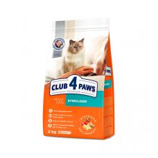 Корм Club 4 Paws ( Клуб 4 Лапы) для взрослых кошек СТЕРИЛИЗОВАННЫЕ , 14 кг
