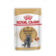 Купить Паучи Royal Canin British Shorthair в соусе для кошек породы британская короткошерстная, 85г. Упаковка 12 шт Фото 1 недорого с доставкой по Украине в интернет-магазине Майзоомаг