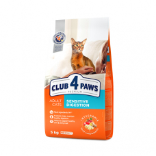 Корм Club 4 Paws ( Клуб 4 Лапы) для взрослых кошек ЧУВСТВИТЕЛЬНОЕ ПИЩЕВАРЕНИЕ 14 кг