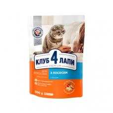 Корм Club 4 Paws ( Клуб 4 Лапы) для взрослых кошек с лососем , 14 кг