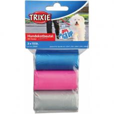 TRIXIE 22845 Мусорные пакеты c ручками 3*15 шт разноцветные