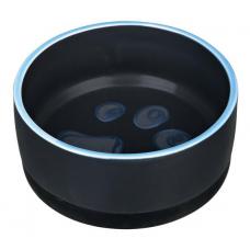Купить TRIXIE 24777 Миска керамическая с резиновой кромкой на основ.ании 0.4 л  o 12 см черная с лапой Фото 1 недорого с доставкой по Украине в интернет-магазине Майзоомаг