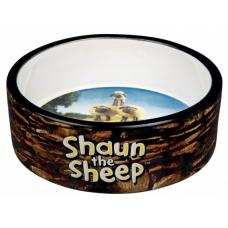"""TRIXIE 25046 Миска керамическая """"Shaun the Sheep"""" 0,3 л 12 см коричневая"""