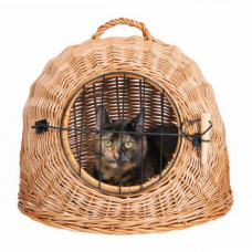 TRIXIE 2870 Переноска плетенная для кошек 45 см