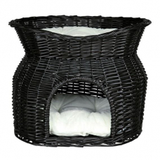 Trixie 2872 Дом плетеный двухэтажный 54*43*37 см черный