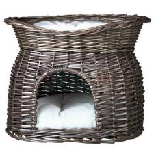 Trixie 2873 Дом плетеный двухэтажный 54*43*37 см серый