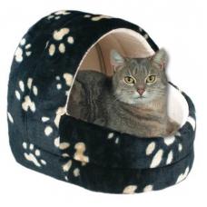 """TRIXIE 36851 Лежак - пещера для кошек  черный в лапах  """"Charly""""  45 см"""