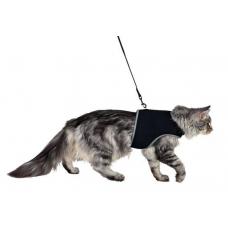 Купить TRIXIE 41895  Шлея для котов  с поводком 36–54 см 1,20 м черная Фото 1 недорого с доставкой по Украине в интернет-магазине Майзоомаг