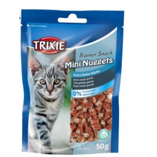 "TRIXIE 42741  Лакомство для котов  ""Mini Nuggets""  тунец курица и кошачья мята 50 г"