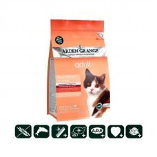 Корм Arden Grange 2 кг, для кошек со свежим лососем и картофелем беззерновой