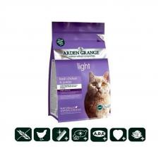 Корм Arden Grange 2кг, для кошек диетический, низкокалор.со свежей курицей и картофелем  беззерновой