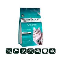 Сухой корм Arden Grange 2 кг, для кошек с деликатным желудком и/или чувствительной кожей с океанической рыбой и картофелем, беззерновой