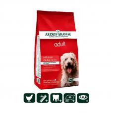 Корм сухой Arden Grange для взрослых собак со свежей курицей и рисом,  2 кг