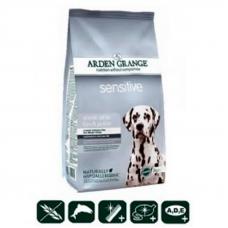 Корм сухой для собак Arden Grange с деликатным желудком и/или чувствительной кожей с океанической белой рыбой и картофелем, 2 кг