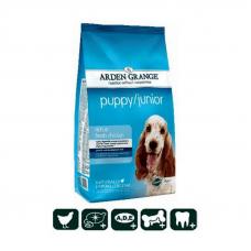 Корм сухой Arden Grange для щенков и молодых собак от 2 до 12 месяцев со свежей курицей и рисом, 6 кг
