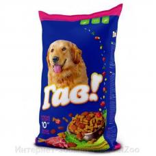 ГАВ полнорационный сухой корм для взрослых собак с мясным ассорти, 10 кг