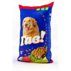 ГАВ полнорационный сухой корм для взрослых собак с телятиной и рисом, 10 кг