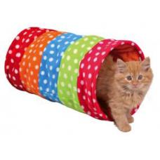 Trixie 4291 Тоннель для кошки, 25х50 см., горошек, флис
