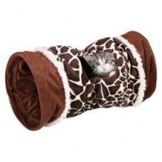 Trixie 43138 Тоннель для кошки, 22х50 см., жираф, плюш