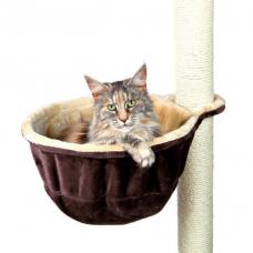 Trixie 43910 Гамак для кошки с креплением на когтеточку диаметр 38 см коричнево бежевый