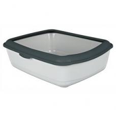 Trixie 40312 Туалет ля кошек пластиковый с рамкой 47х37х15 см серый
