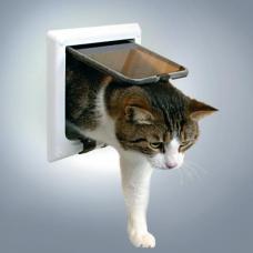 Trixie 38641 Дверца для кошки 4 позиции, с туннелем