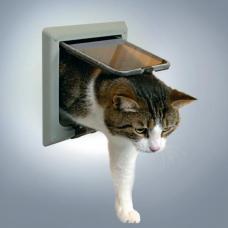 Trixie 38642 Дверца для кошки 4 позиции, с туннелем