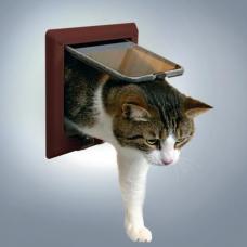 Trixie 38643 Дверца для кошки 4 позиции, с туннелем