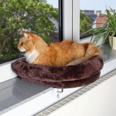Купить Trixie 43296 Лежак для кошки закрепляющийся на окне Фото 1 недорого с доставкой по Украине в интернет-магазине Майзоомаг
