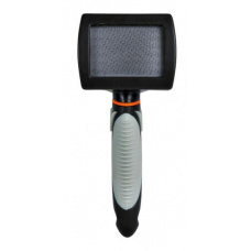 Купить Trixie 24132 Щетка-пуходерка мягкая с пластиковой ручкой 10*17 см Фото 1 недорого с доставкой по Украине в интернет-магазине Майзоомаг