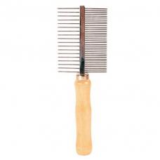 Купить Trixie 2396 Расческа с деревянной ручкой двухсторонняя 18 см Фото 1 недорого с доставкой по Украине в интернет-магазине Майзоомаг