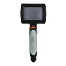 Купить Trixie 24131 Щетка-пуходерка мягкая с пластиковой ручкой 7 *16 см Фото 1 недорого с доставкой по Украине в интернет-магазине Майзоомаг