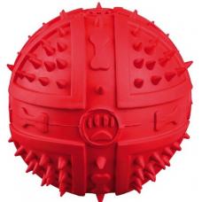 Купить TRIXIE 34842 РЕЗИНОВЫЙ МЯЧ С ШИПАМИ И ПИЩАЛКОЙ TOY BALL   9 см Фото 1 недорого с доставкой по Украине в интернет-магазине Майзоомаг