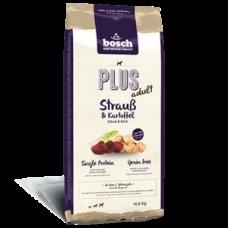 Купить Сухой корм для собак Bosch (Бош) PLUS Strauss & Kartoffel (страус+картофель), 12,5 кг Фото 1 недорого с доставкой по Украине в интернет-магазине Майзоомаг