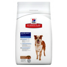 Cухой корм Hills (Хиллс) для собак, с ягненком и рисом, mature adult 7+ medium, 12 кг