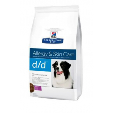 Диетический корм Hills (Хиллс) для собак, с лососем и рисом, Canine D-D™ 12 кг
