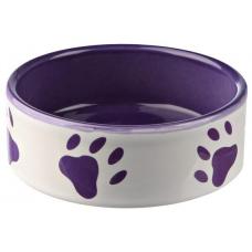Trixie 24405 для собак керамическая фиолетовая с лапками