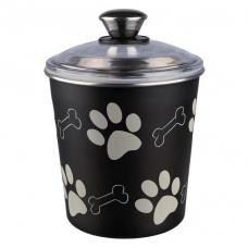 """Trixie 25240 """"King of Dogs"""" Емкость для хранения корма, сталь с покрытием 1,9 л  15*21 см"""