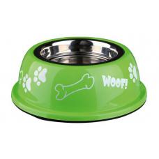 Купить Trixie 25252 Миска  для собак металлическая на резине с пластиковым покрытием яркая 0,45 л 13 см Фото 1 недорого с доставкой по Украине в интернет-магазине Майзоомаг