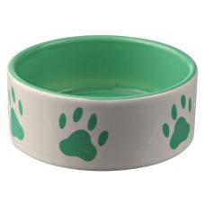 Купить Trixie 24536 Миска керамическая зеленая с лапками Фото 1 недорого с доставкой по Украине в интернет-магазине Майзоомаг