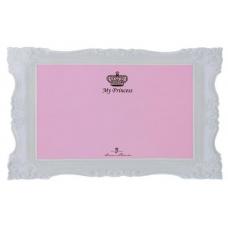 Trixie 24785 Коврик под миску My Princess 44*28 см розовый