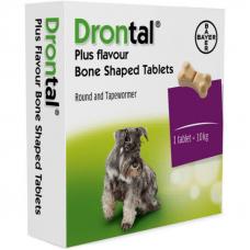 Дронтал Плюс (Drontal plus) BAYER  таблетки с вкусом мяса для собак 1 шт