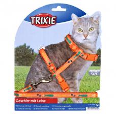 Купить Trixie 4209 Шлейка с поводком для кошки с рисунком  22-36 см 10 мм Фото 1 недорого с доставкой по Украине в интернет-магазине Майзоомаг