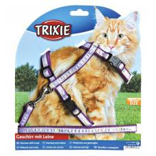 Trixie 41893Шлейка с поводком для кошки, нейлон  XL  34-57 см 13 мм