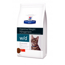 Корм Hills (Хиллс) 5 кг, лечебный для кошек при колитах, запорах, сахарном диабете, ожирении, Prescription Diet Feline w-d