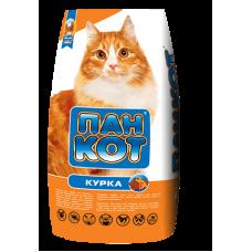 """Пан-кот """"курица"""", сухой корм для кошек с добавлением куриного филе, (10 кг)"""