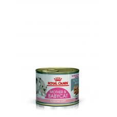 Корм Royal Canin (Раял Канин) 12 шт. 195 г., для котят до 4 мес; для кормящих кошек, мусс 12 шт, Babycat Instinctive