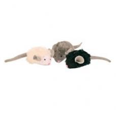 TRIXIE 4199 Мягкие игрушки мышки с микрочипом для кошки 6,5 см   1 шт